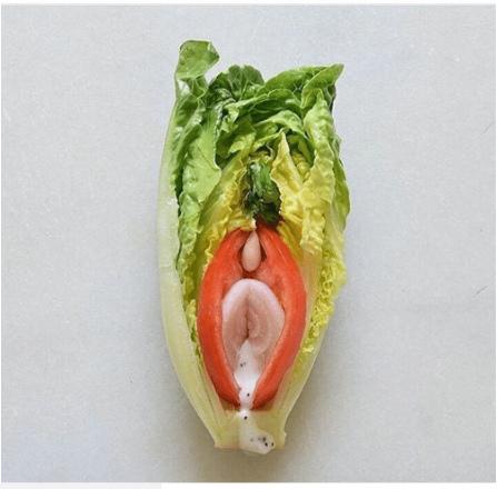zelenina v tvare vagíny