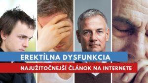 erektílna dysfunkcia, príznaky, prejavy, liečba a prevencia