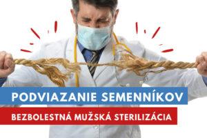 podviazanie semenníkov, mužská sterilizácia