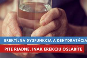 dehydratácia a erektílna dysfunkcia