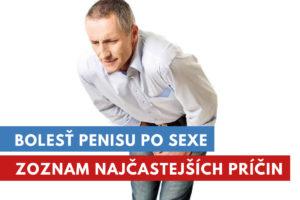 bolesť penisu po sexe