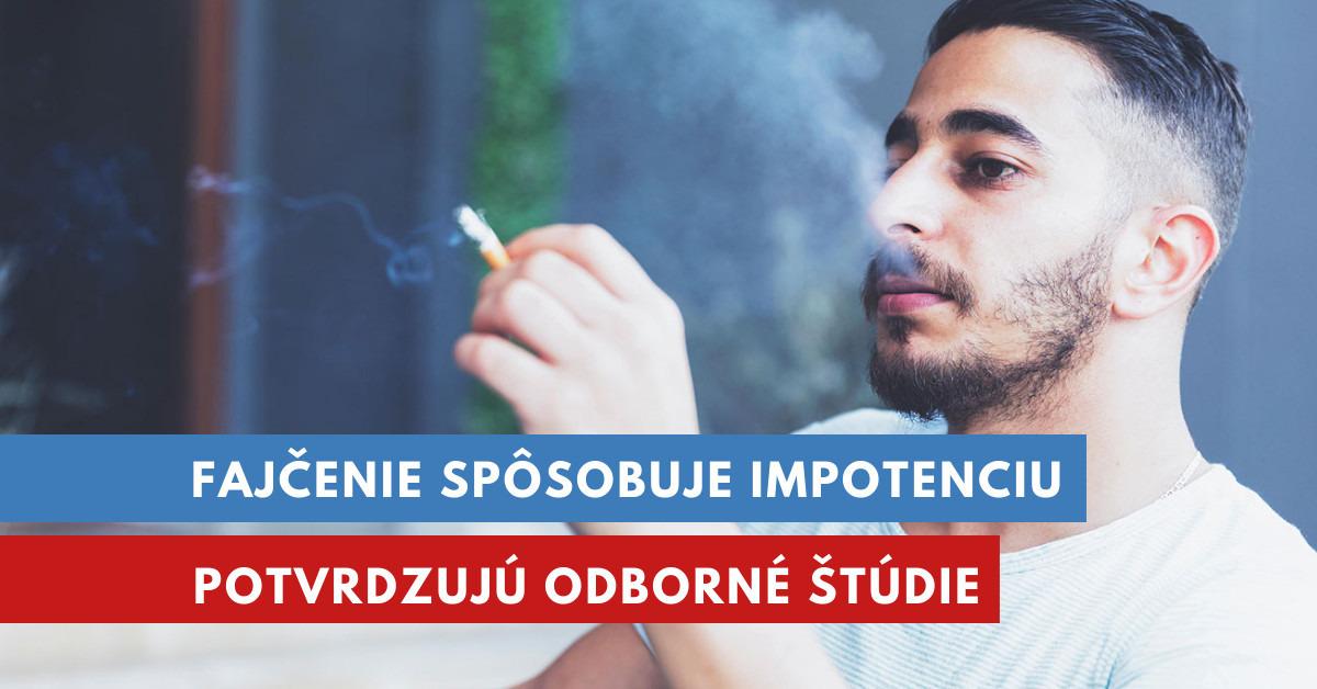 fajčenie a impotencia