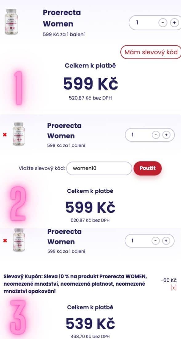 Ako uplatniť zľavu Proerecta WOMAN